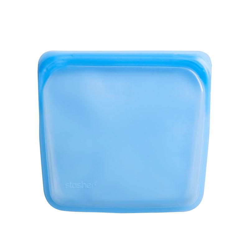 美國 Stasher 矽膠密封袋 方形 藍寶石