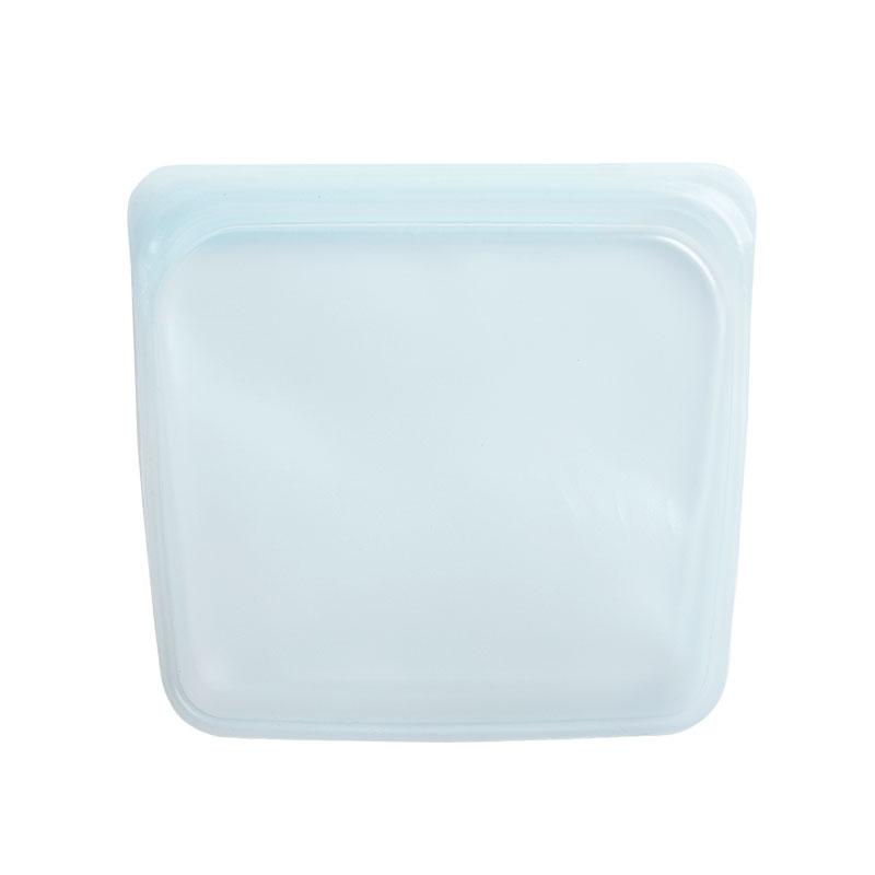 美國 Stasher 矽膠密封袋 方形 泡泡藍