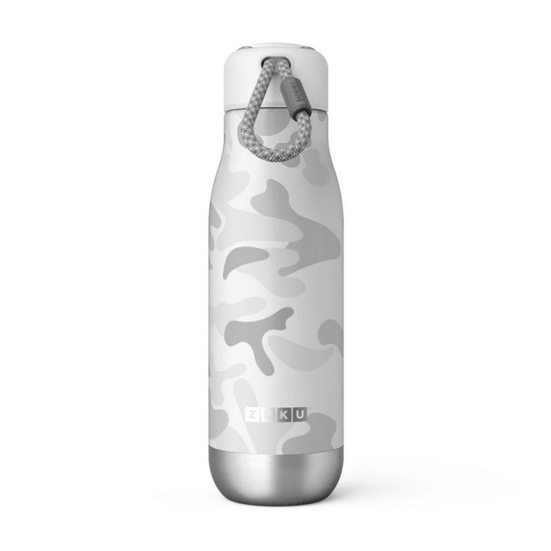 美國 ZOKU 設計款 真空不鏽鋼保溫瓶 500ml 白迷彩