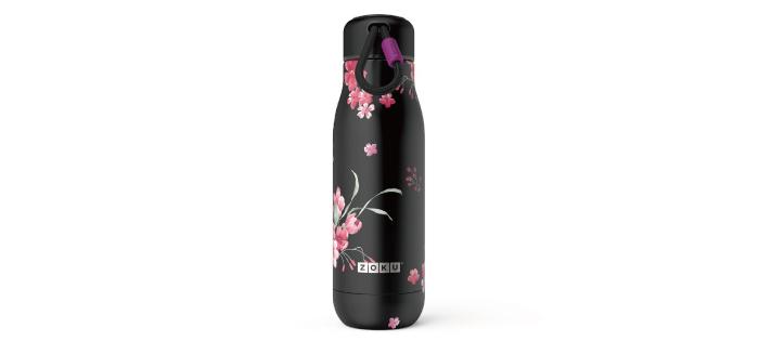 美國 ZOKU 設計款 真空不鏽鋼保溫瓶 500ml 暗夜花語