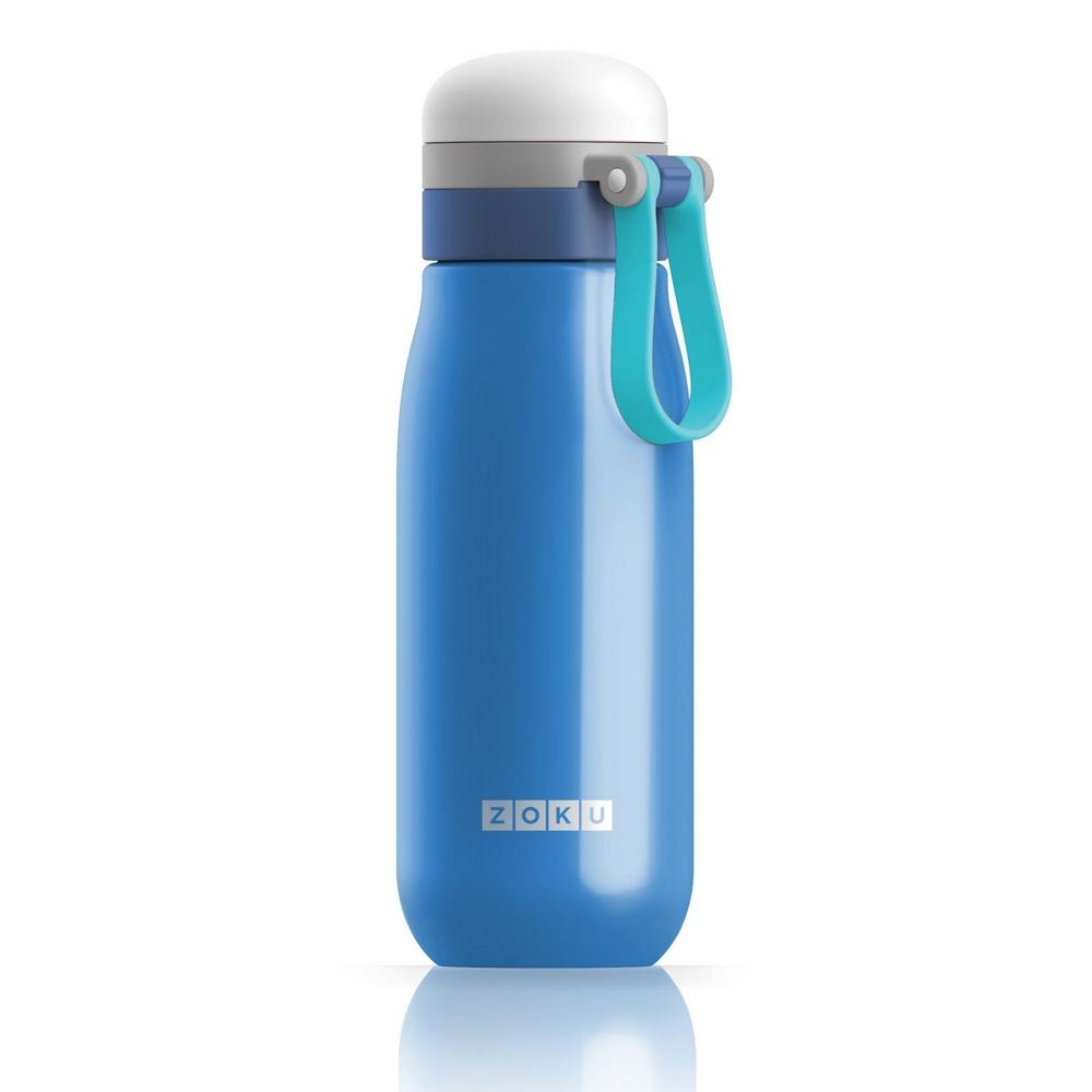 美國 ZOKU 輕量304不鏽鋼冷水壺 500ml 藍色