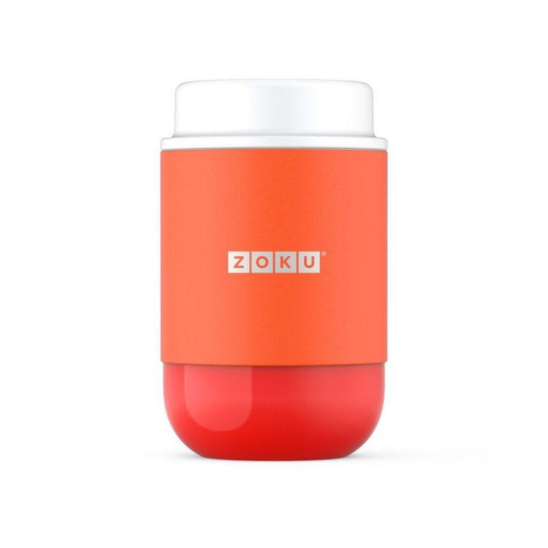 美國 ZOKU 真空304不鏽鋼 食物罐 475ml 橘色