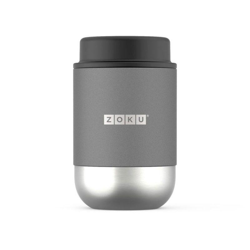 美國 ZOKU 真空304不鏽鋼 食物罐 475ml 銀色