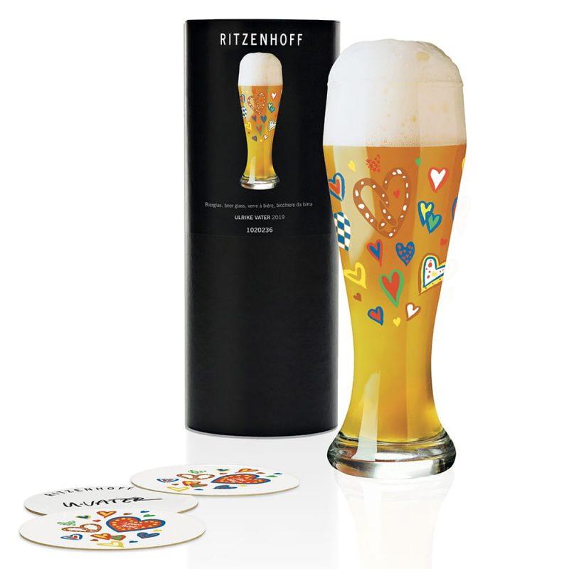 德國 RITZENHOFF WEIZEN 小麥胖胖啤酒杯-心花怒放