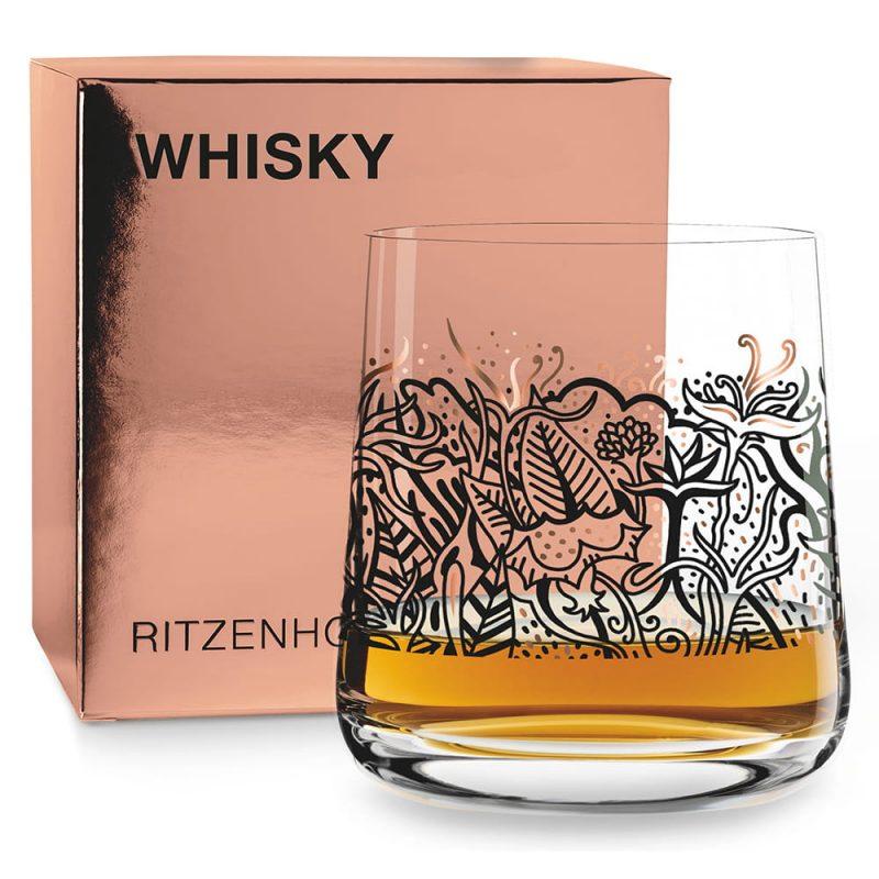 德國 RITZENHOFF WHISKY 威士忌酒杯-繁花似錦