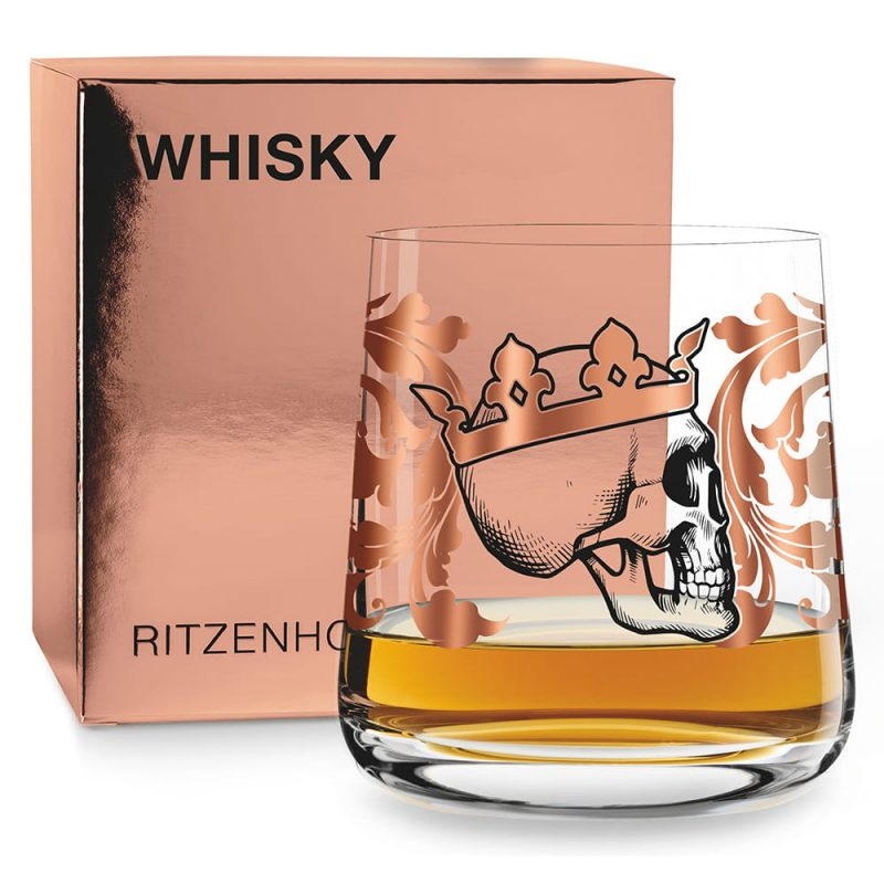 德國 RITZENHOFF WHISKY 威士忌酒杯-骷髏公爵
