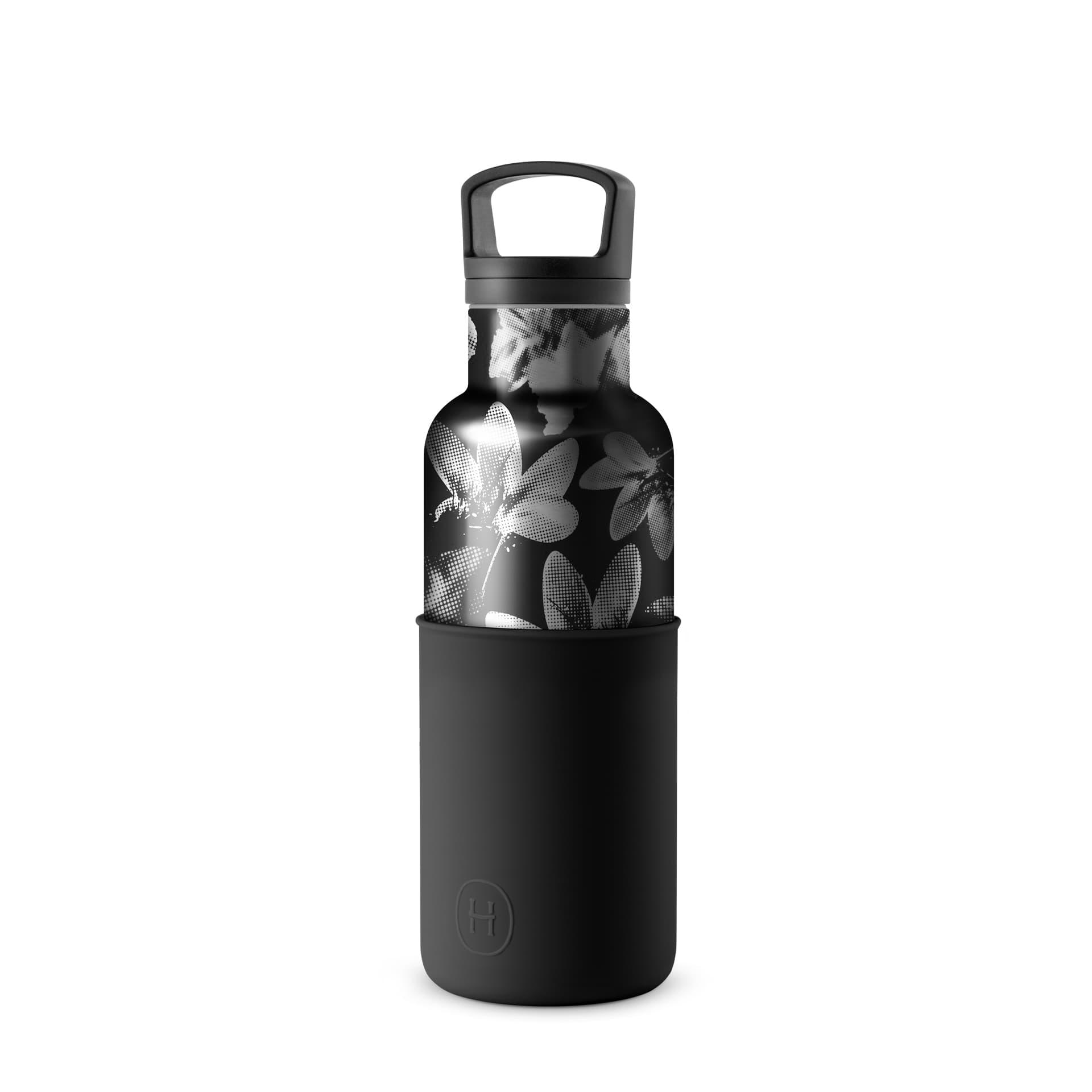 美國 HYDY 時尚不銹鋼保溫水瓶 480ml 黑花瓶 (油墨黑)