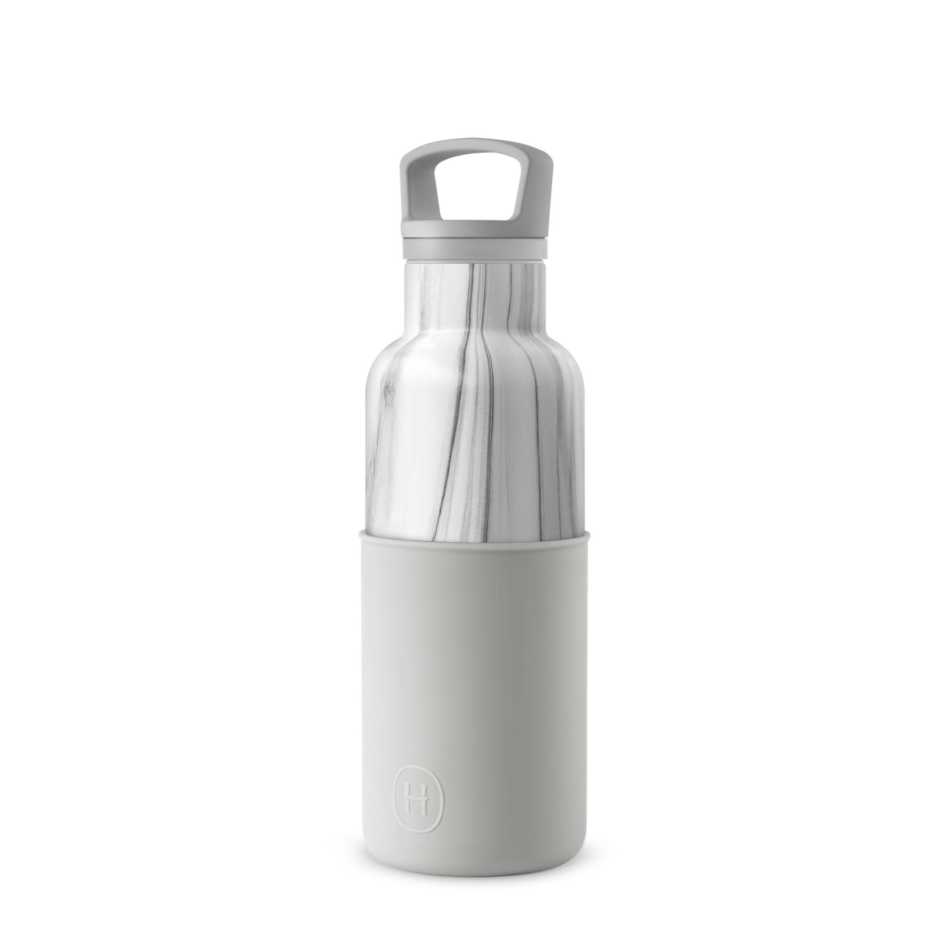 美國 HYDY 時尚不銹鋼保溫水瓶 480ml 大理石紋瓶 (雲灰)