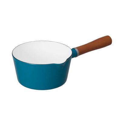 CB北歐系列琺瑯原木單柄牛奶鍋-土耳其藍