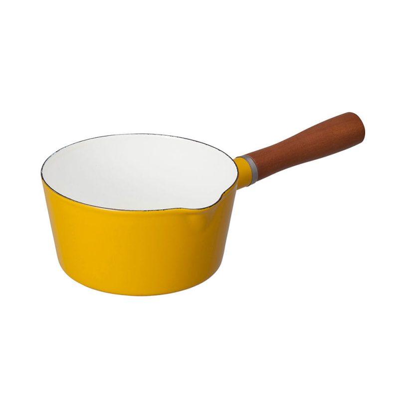 CB Japan 北歐系列琺瑯原木單柄牛奶鍋 - 芥末黃