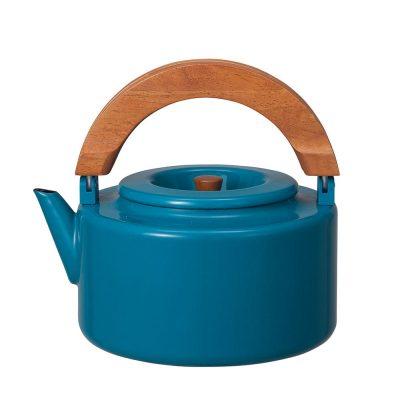 CB Japan 北歐系列琺瑯原木泡茶兩用壺 - 土耳其藍
