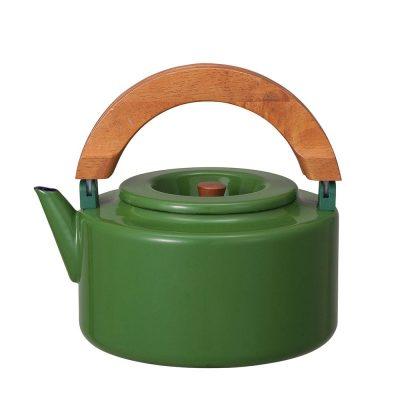 CB Japan 北歐系列琺瑯原木泡茶兩用壺 - 森林綠