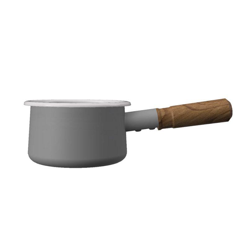 CB Japan 都會系列琺瑯原木牛奶鍋-時尚灰