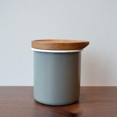 CB Japan 都會系列琺瑯原木置物罐-時尚灰