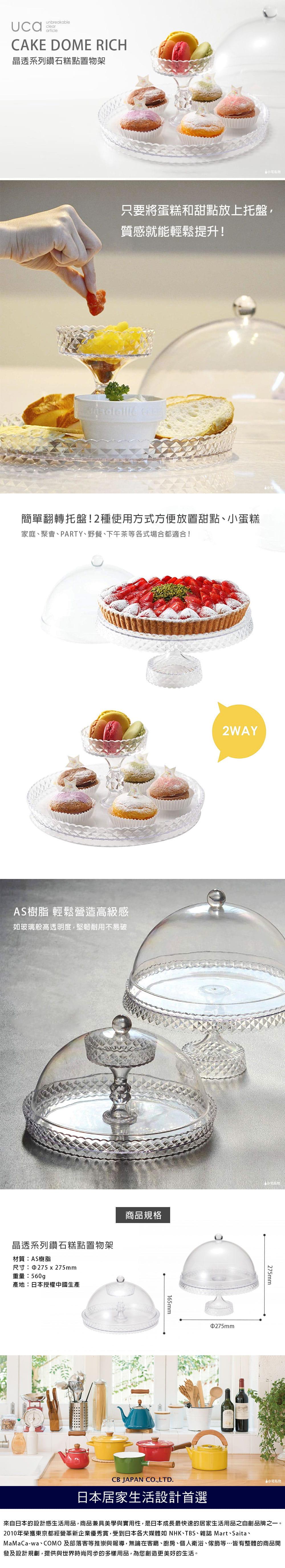 CB Japan 晶透系列鑽石糕點置物架