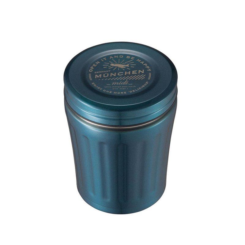 CB Japan MiDi 城市系列雙層保冷保溫湯壺350ml - 金屬藍
