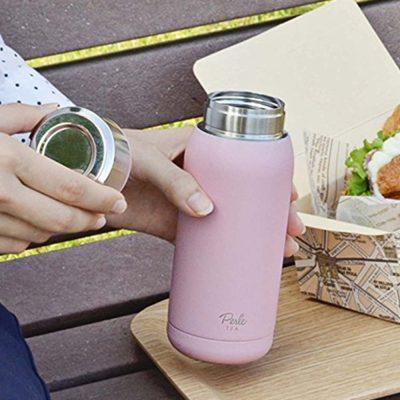 CB-Perle粉色佳人雙層保冷保溫杯355ml蜜糖粉1