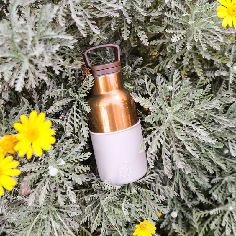 美國 HYDY 時尚不銹鋼保溫水瓶 360ml 古銅金瓶 (尤加利)