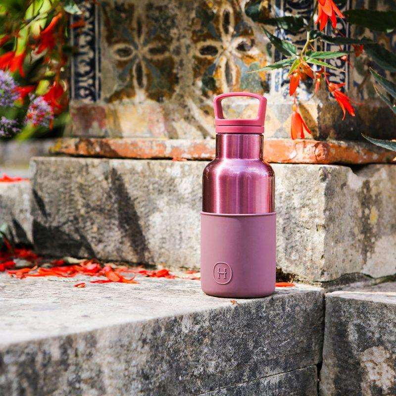 美國 HYDY 時尚不銹鋼保溫水瓶 360ml 玫瑰金瓶 (乾燥玫瑰)