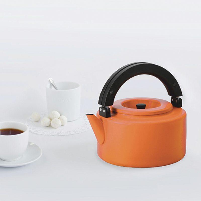 CB北歐系列琺瑯泡茶兩用壺-微笑橘