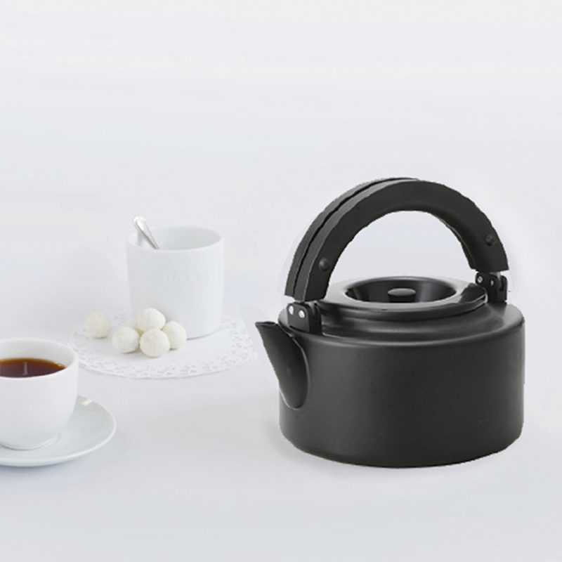 CB北歐系列琺瑯泡茶兩用壺-時尚黑