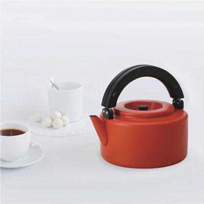 CB北歐系列琺瑯泡茶兩用壺-熱情紅1
