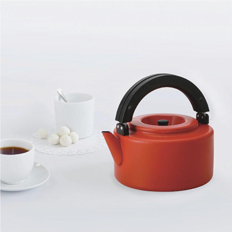 CB北歐系列琺瑯泡茶兩用壺-熱情紅