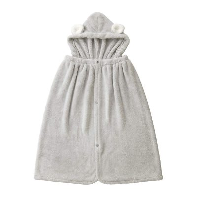 CB-動物造型超細纖維披巾-有帽(無尾熊灰)