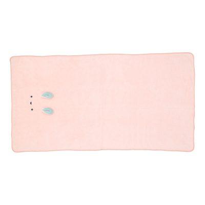 CB-動物造型超細纖維浴巾(小白兔粉)1