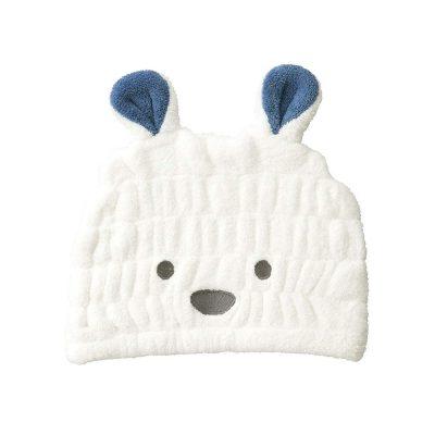 CB-動物造型超細纖維浴帽(北極熊白)