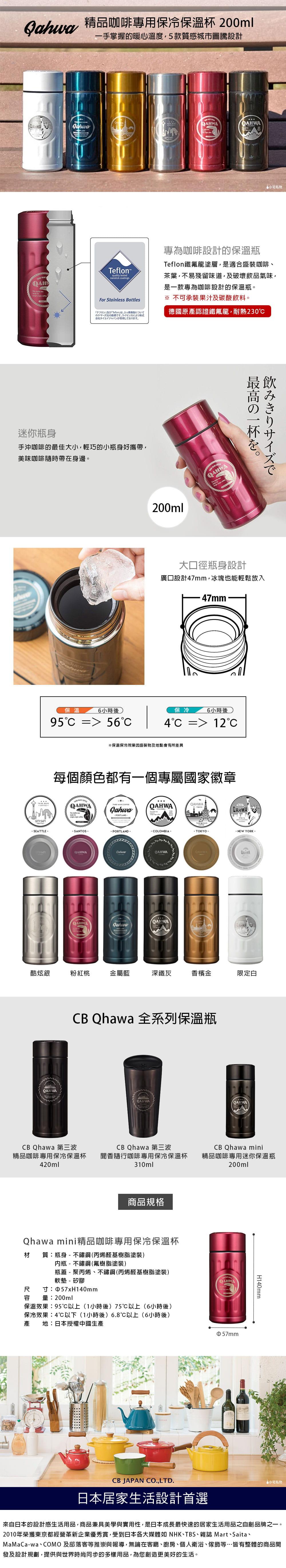 CB Japan Qahwa mini 精品咖啡專用保冷保溫杯 金屬藍