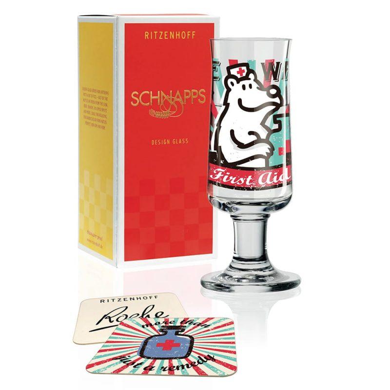 德國 RITZENHOFF SCHNAPPS 新式烈酒杯 救難熊