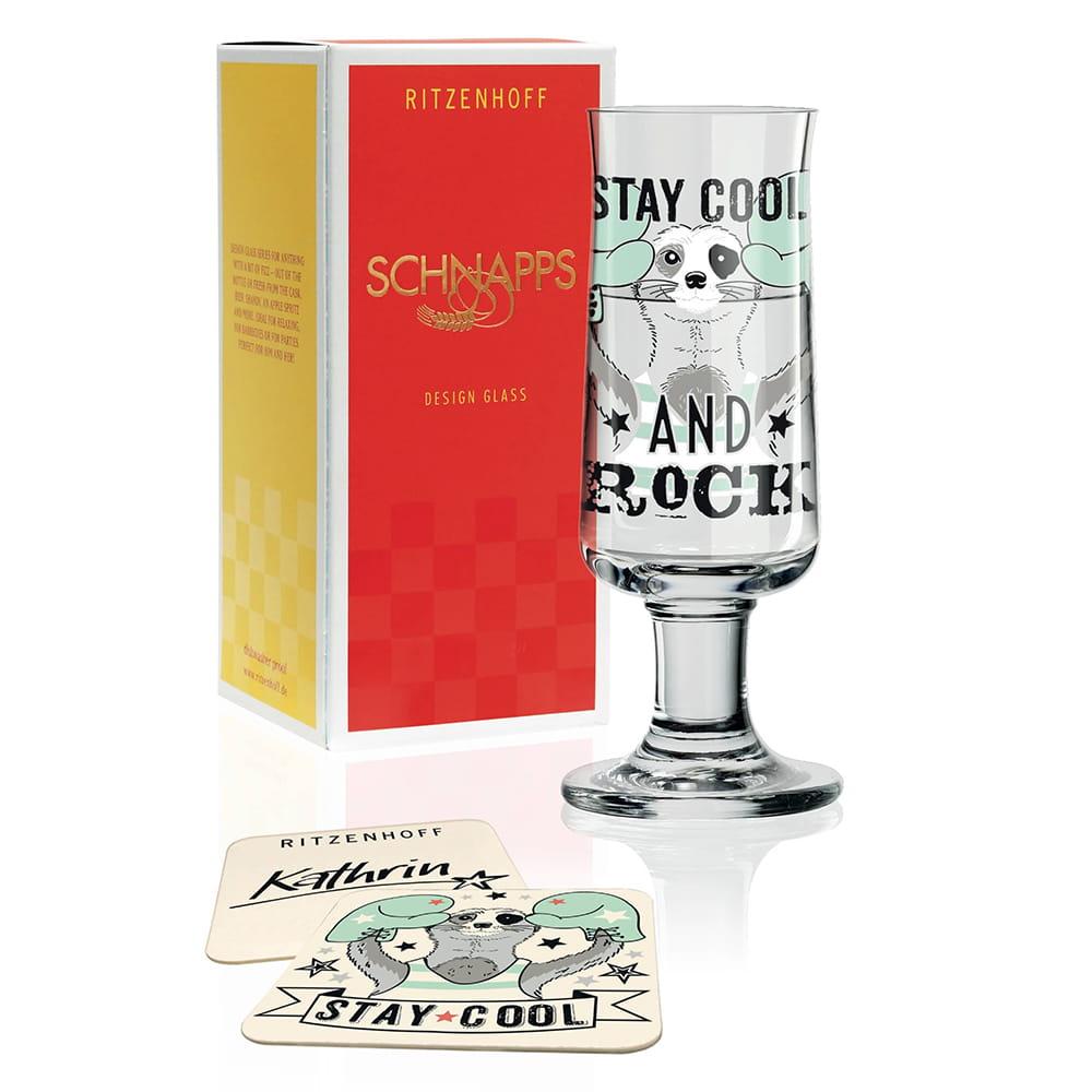 德國 RITZENHOFF SCHNAPPS 新式烈酒杯 酷酷浣熊