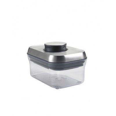 美國 OXO POP 不鏽鋼長方按壓保鮮收納盒 0.5L