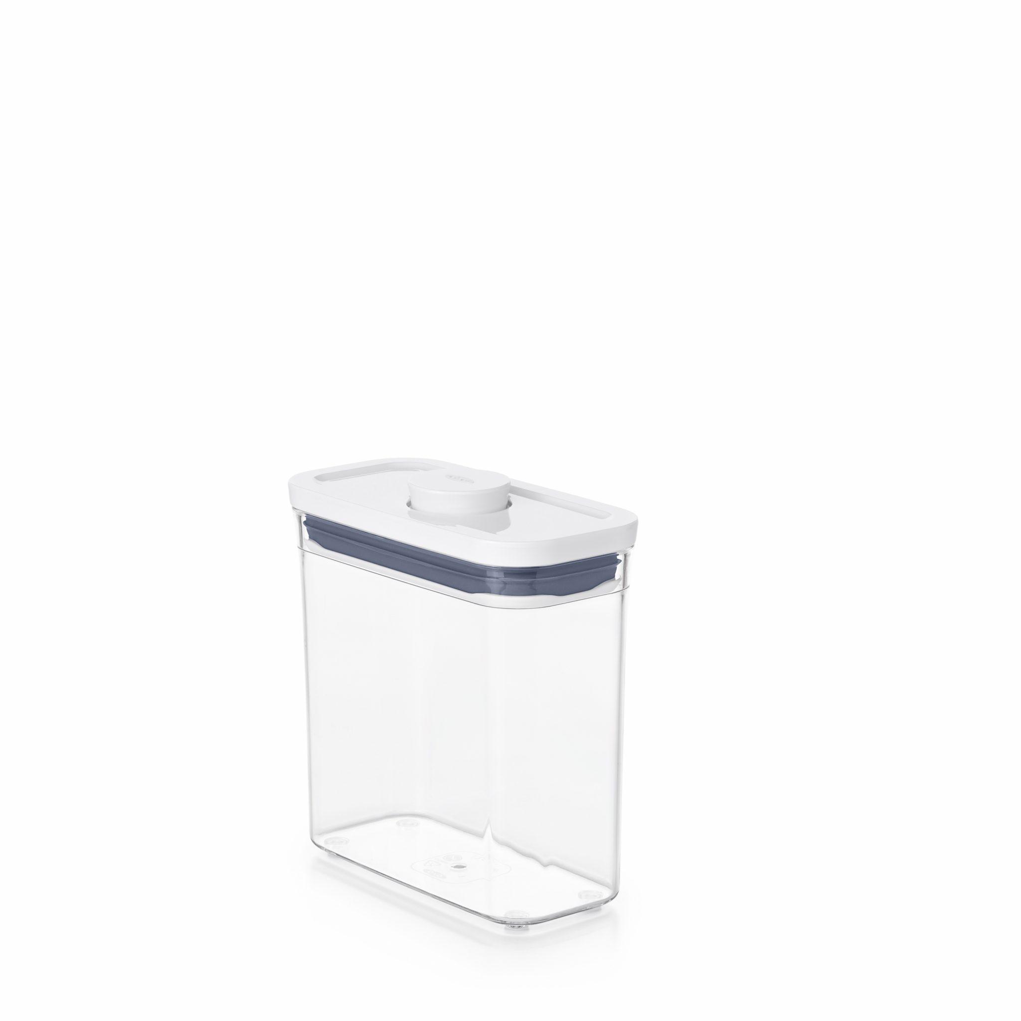 美國 OXO POP 細長方按壓保鮮盒 1.1L