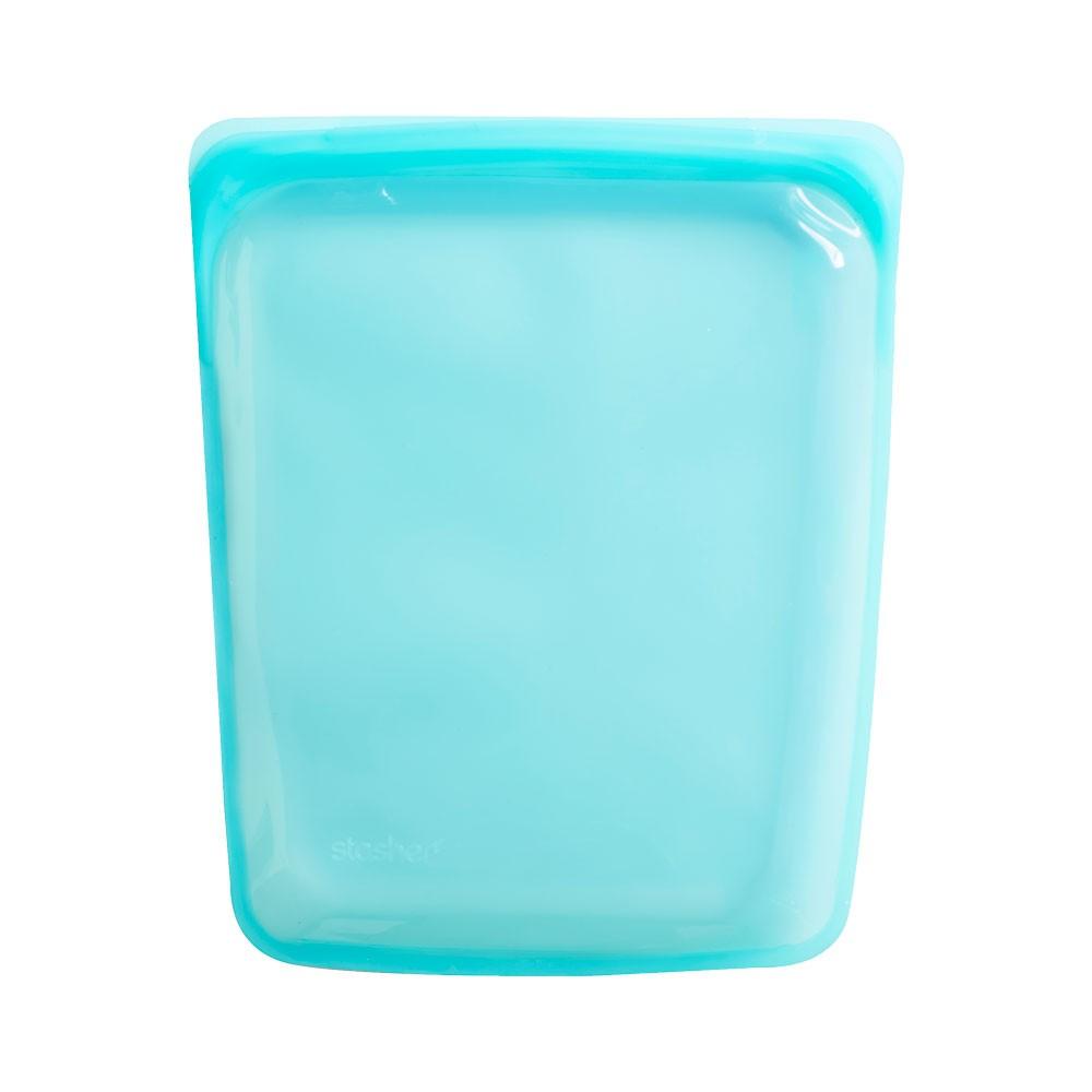 美國 Stasher 大長形矽膠密封袋 湖水藍