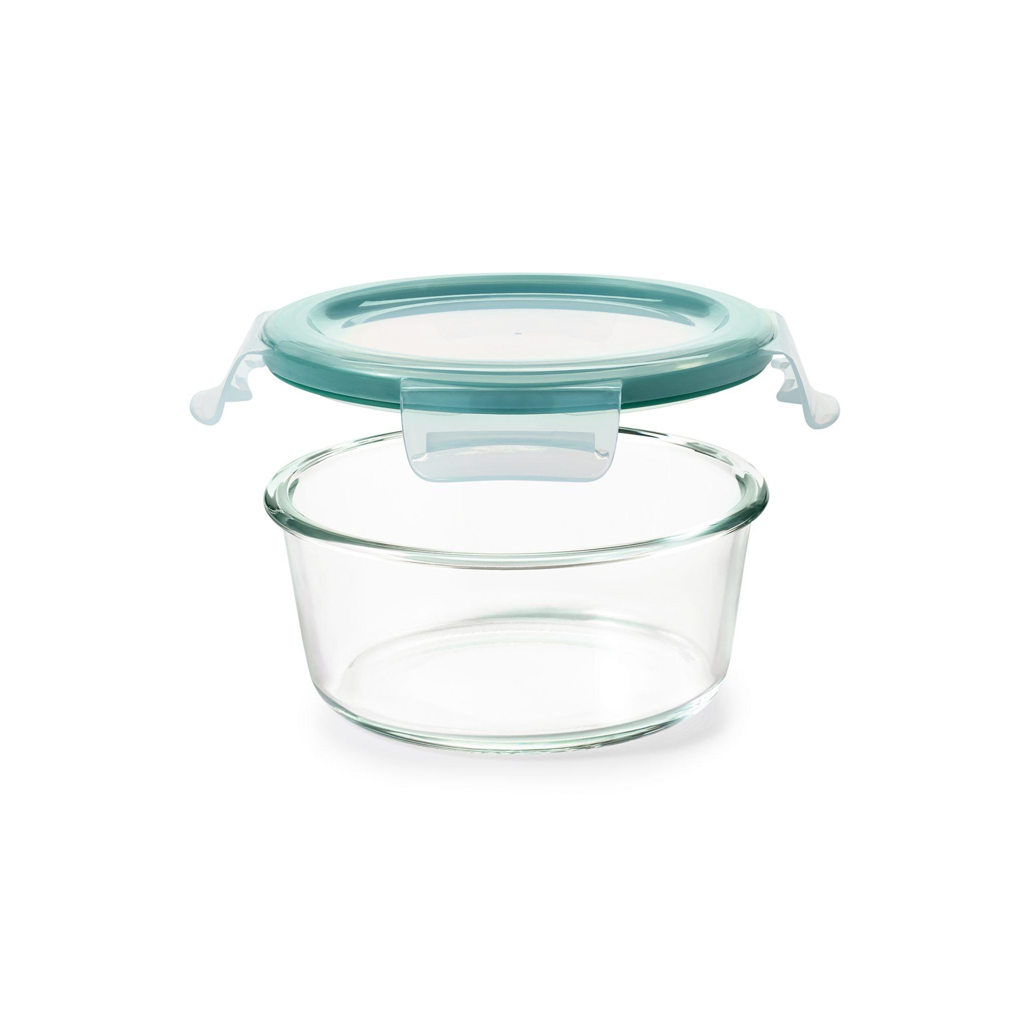 美國 OXO 耐熱玻璃保鮮盒 圓形 940ml