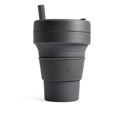 美國 Stojo 折疊伸縮杯 24oz 石炭灰 (紐約限定版) 泰坦杯