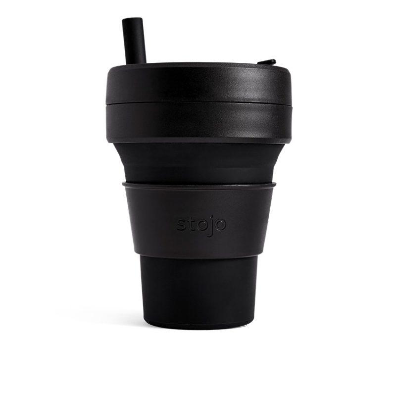 美國 Stojo 折疊伸縮杯 24oz 石墨黑 (紐約限定版) 泰坦杯
