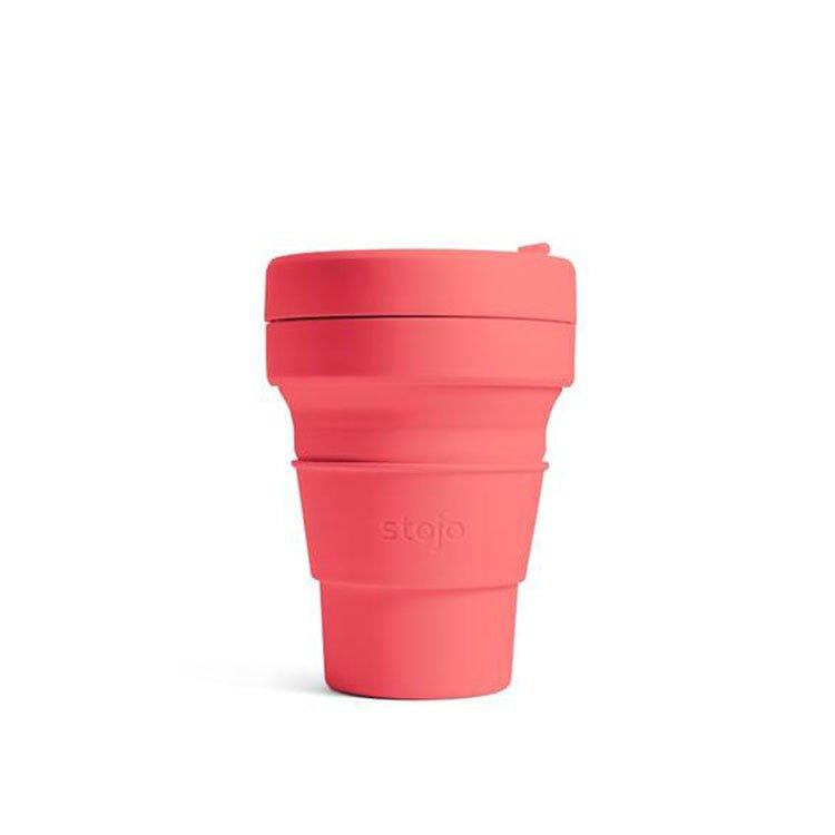美國 Stojo 折疊伸縮杯 16oz 珊瑚紅 (紐約Tribeca限定版)