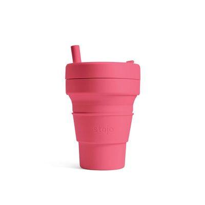 美國 Stojo 折疊伸縮杯 16oz 牡丹脂 (紐約Tribeca限定版)