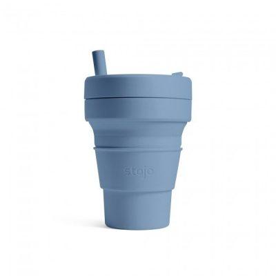 美國 Stojo 折疊伸縮杯 16oz 鋼鐵藍 (紐約Tribeca限定版)