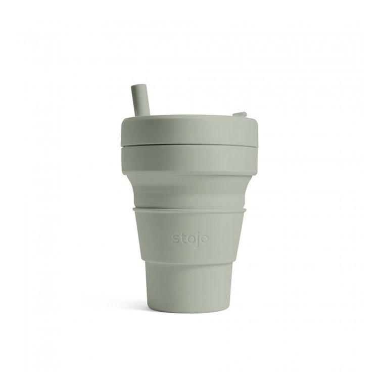美國 Stojo 折疊伸縮杯 16oz 軍綠色 (紐約Tribeca限定版)