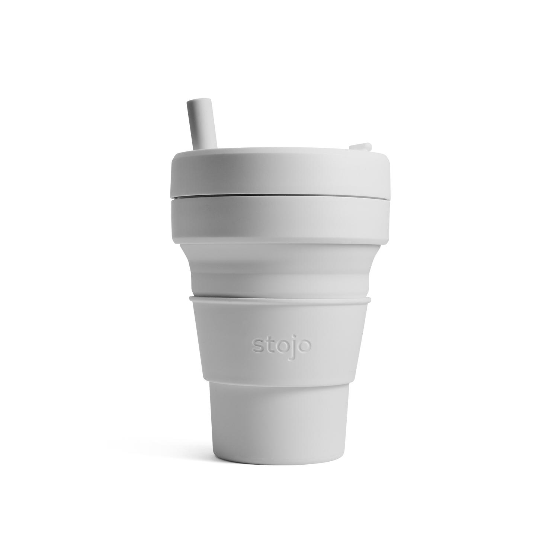 美國 Stojo 折疊伸縮杯 16oz 羊絨灰 (布魯克林限定版)