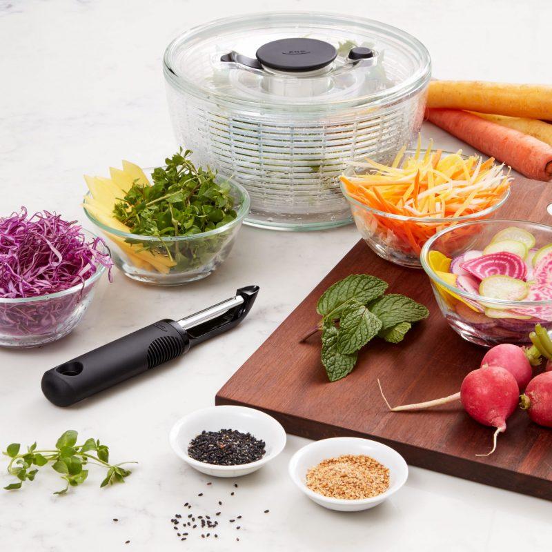美國 OXO 按壓式蔬菜脫水器 (新版)