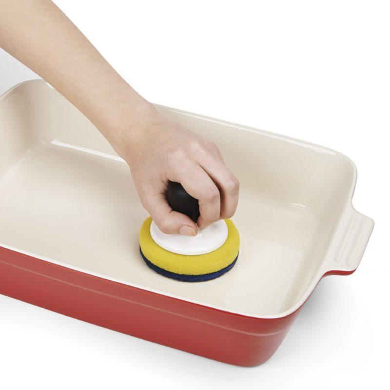 美國 OXO 好好握不沾鍋雙層菜瓜布 (附晾盤)