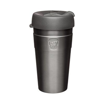 澳洲 KeepCup 雙層真空隨身杯 L - 鎧甲銀
