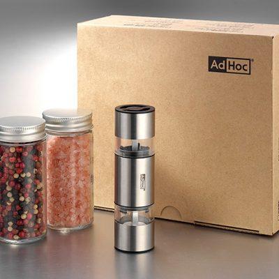 AdHoc 小巧極簡2IN1雙邊陶瓷刀研磨罐禮盒組 MP12P