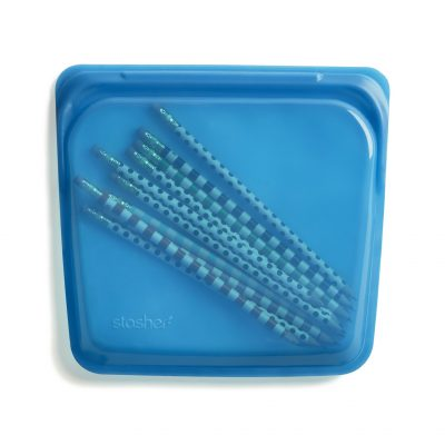 美國 Stasher 矽膠密封袋 方形 野莓藍