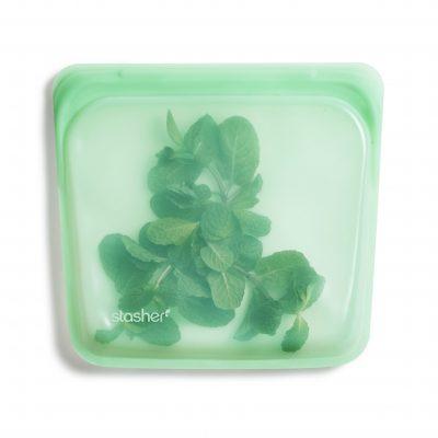 美國 Stasher 矽膠密封袋 方形 薄荷綠